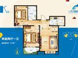 宏泰龙河枫景_2室2厅1卫 建面77平米