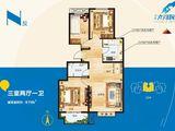 宏泰龙河枫景_3室2厅1卫 建面97平米