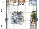 云特区_3室1厅1卫 建面110平米