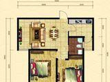 晨煜唐槐园三期_2室2厅1卫 建面90平米