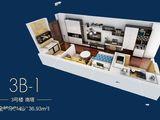 锦荣广场_1室1厅1卫 建面36平米