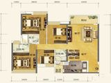恒大金阳新世界_4室2厅3卫 建面143平米