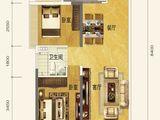 恒大金阳新世界_2室2厅1卫 建面84平米
