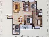 利嘉皇庭_3室2厅2卫 建面123平米