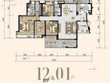 沙湖绿洲_4室2厅2卫 建面176平米