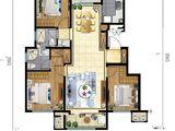 北戴河新区孔雀城_3室2厅2卫 建面105平米
