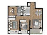 雅居乐远洋公园里_3室2厅1卫 建面89平米