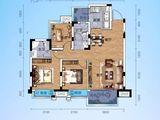 交投地产阳光100新叶城_3室2厅2卫 建面91平米