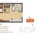 福成 尚领时代_A-3 一室一厅一卫 建面43平米